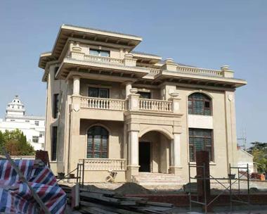 江苏盐城沈宅豪华大气欧式三层别墅施工实建案例欣赏