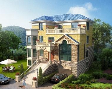 永云别墅AT236三层带架空层豪华楼中楼复式楼中楼别墅设计图纸16.74mx12m