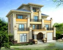 永云别墅AT1655四层高端大气欧式别墅建筑设计图纸15.4mx13.9m