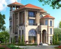 AT1711高端大气带电梯欧式四层复式楼中楼别墅设计图纸13.9mx16.7m