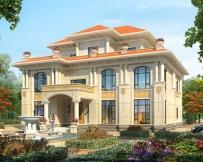 永云别墅AT1683漂亮三层复式私家别墅建筑设计图纸16.5mx14.1m