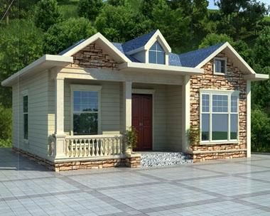 永云别墅AT1727好看新农村一层小别墅建筑设计图纸11.5mx10.5米