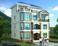 【兄弟合建】AT1739四层简洁大方套房别墅建筑设计图纸11.2mx10.5m
