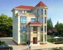 AT1780私人定制简欧四层复式楼中楼漂亮别墅设计图纸10.8mX12.3m