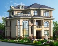 2020年新款AT1856楼中楼三层豪华大气欧式别墅设计图纸12.6mX10m