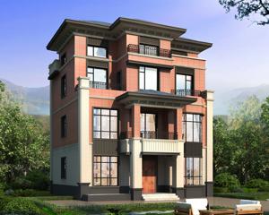 AT1912简洁大方三层半简欧风格别墅设计施工图纸11.8mX12.5m