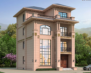 占地120平米二间四层AT1930带地下室小别墅全套施工图纸9mX11.9m
